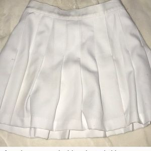 White pleated Cheerleader skirt